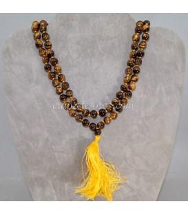 Mala o rosario oriental de esferas de Ojo de tigre