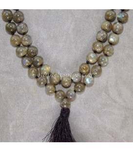 Mala o rosario oriental de Labradoritas de 108 esferas