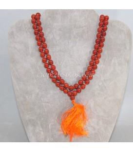 Mala o rosario oriental de esferas de Cuarzo ahumado