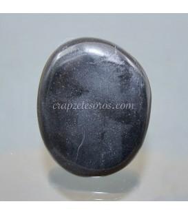 Obsidiana negra tallada para piedra de tratamiento termal y masaje