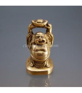 Buda Hotei de Ametrino en colgante de plata de ley