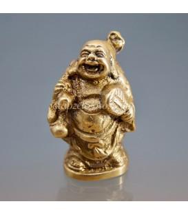 Buda Hotei de los Deseos elaborado en metal.