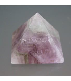 Pirámide proporcional de Fluorita arcoiris