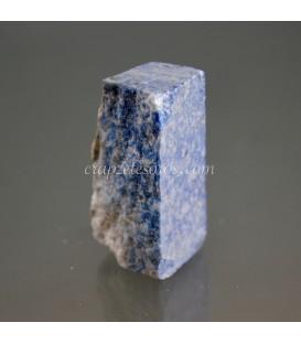 Broche o aguja de metal con Lapislázuli y perlas naturales.