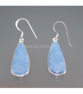 Pendientes de plata de ley con Öpalos azules