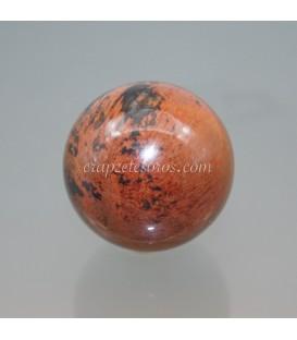 Obsidiana caoba de México talla esfera, el símbolo de la perfección