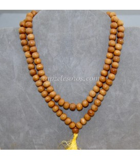 Mala o rosario oriental de esferas de Ojo de buey