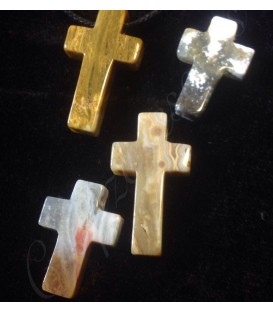 Colgante cruz Jaspe Oceano