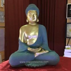 Buda acabado en dorado y como metal envejecido, de resina