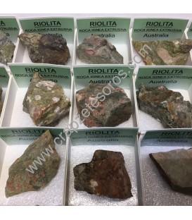 Riolita de Australia en cajita de colección