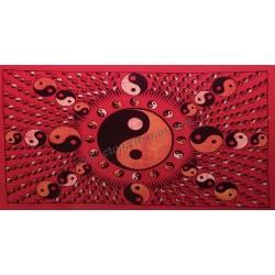 Ying Yang en tapiz de algodón de la India