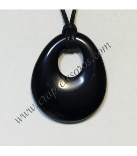 Ónix tallado en colgante en forma elipsoide