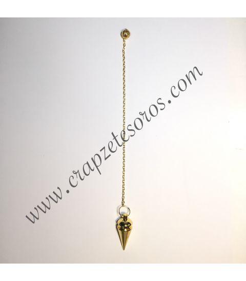 Péndulo clásico de metal dorado