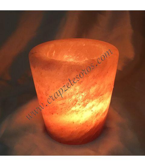 Portavela de Silvina del Himalaya tallado en forma de vaso